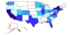 US map of SEO jobs